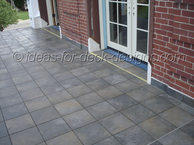 Install Expansion Joints Deck Tile