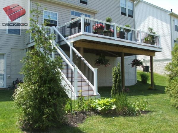 Well planned deck stairs for High deck ideas