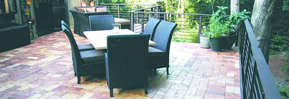 Paver stones as a decking material