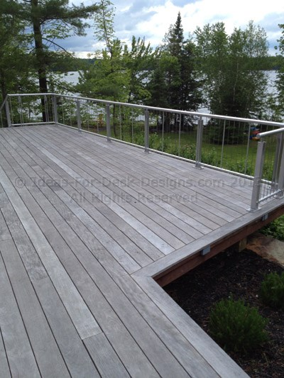 Fire resistant deck material wood and composite decking for Synthetic deck material