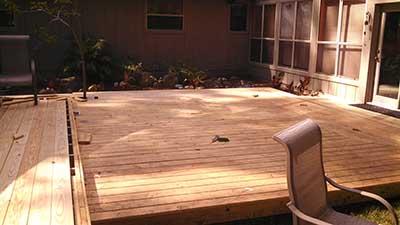 First deck near house