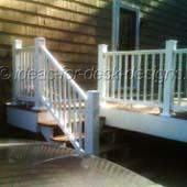 A vinyl railing