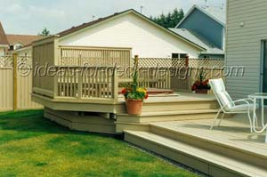 Multi level deck with hot tub and spa