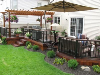 Courtyard garden design backyard design guide Small deck ideas