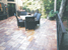 Paver stone deck over wood