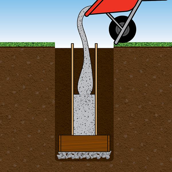 Pour cement into form in one continuous pour.