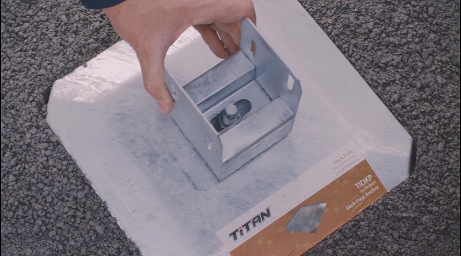 Slide feature of Titan Deck Foot Anchor