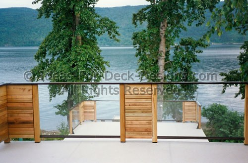 Deck Railing Designs And Ideas Glass Wood Aluminum