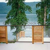 Glass panels and cedar with aluminum
