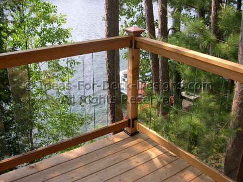 Glass Deck Railing - Choose Wood or Aluminum