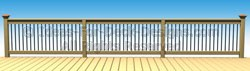 Continuous top rail with alternating protruding posts