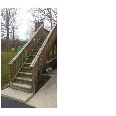 Existing Wood Stairs To Be Replaced With Trex Boards
