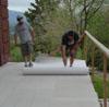 Rolling out TileDek on deck