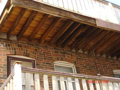 Rotting Cantilevered Deck Joists