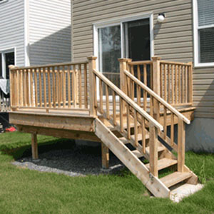 A small cedar deck to learn from