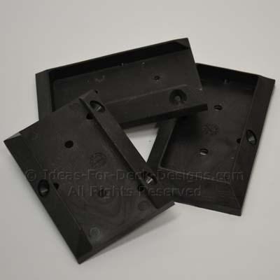 Polypro plastic rail brackets