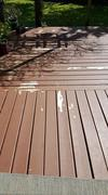 After Lightly Spraying Deck With Hose
