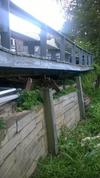 Retaining wall and Deck edge
