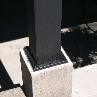 Wood Deck Post Anchors Support Post Bases For Outdoor