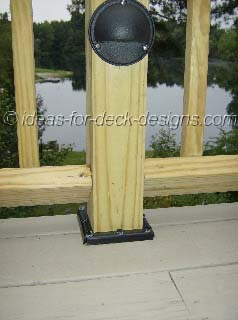 Large deck with cascading stairs
