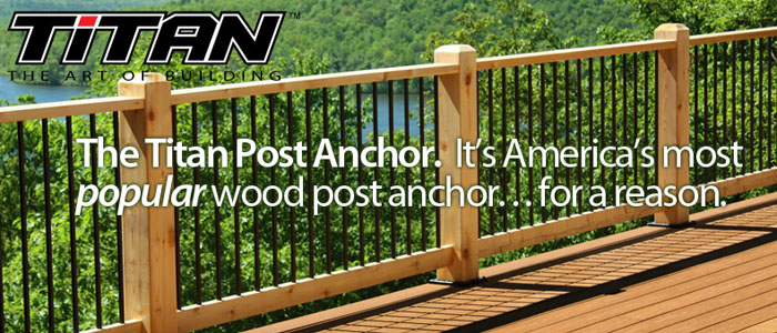 Titan Post Anchor - Wood posts Install Fast, Easy & Code ...