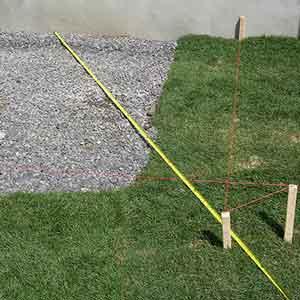 Triangulate to locate holes