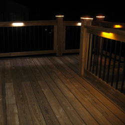 Wood frame railing with indirect lights