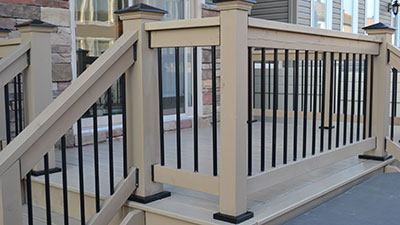 Deck railing post anchors install posts to deck without for Things to consider when building a deck
