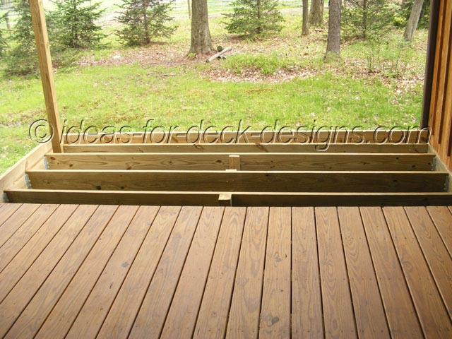 Wood framing of deck for pavers