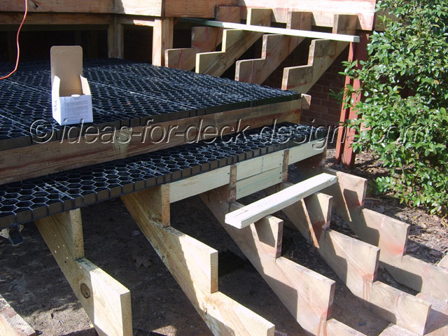 Framing for wood stairs pavers
