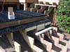 Wood stairs with pavers