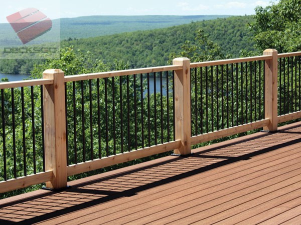 Beautiful Wood Railing With View Of Pocono Mountains