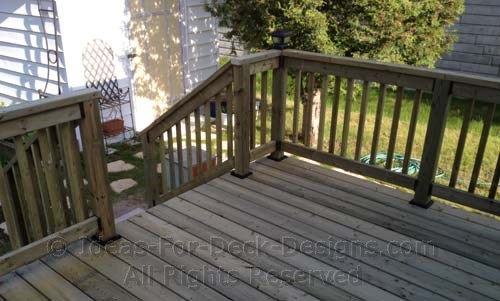 Pressure Treated Wood Deck And Rail