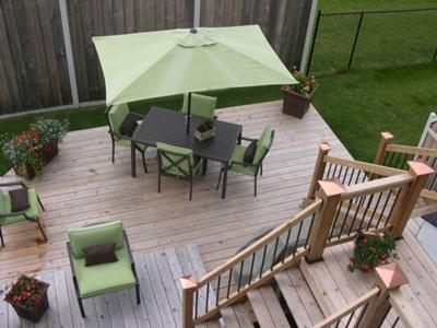 Deck in a Small Backyard