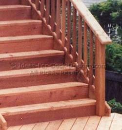 Cedar stairs closed risers