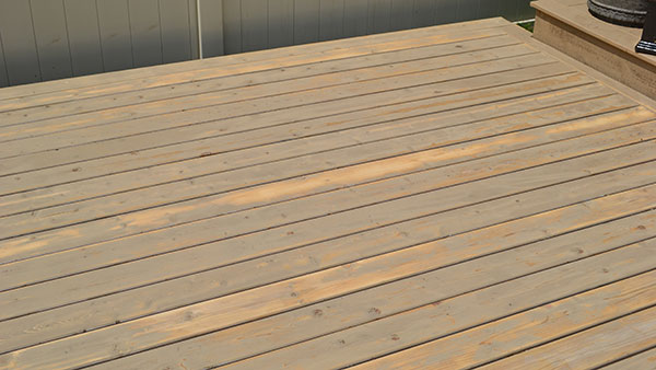 Re-stained cedar deck