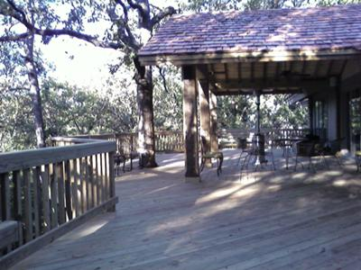 Deck with Tree & Gable Roof