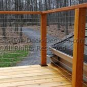 Wood posts and cable rail