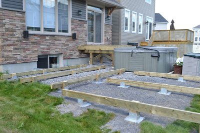 Freestanding Deck Elevated
