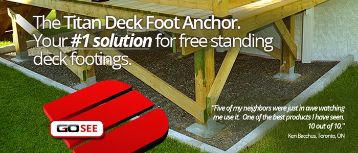 Your #1 solution for free standing deck footings