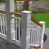 Detailed newel posts