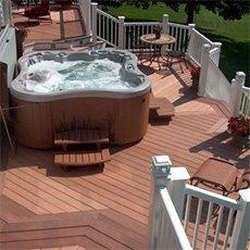 a hot tub deck design