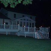 Solar lights at night