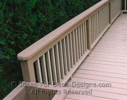 Railing around the deck