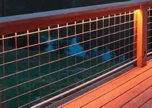 Residential Railing with Mesh Hog Panel