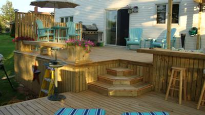 Part of deck