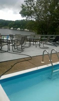Deck viewed from pool