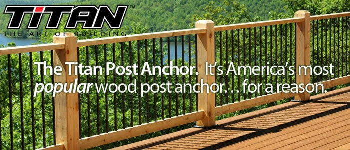 Titan Post Anchor Wood Posts Install Fast Easy Amp Code