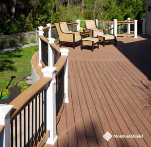 Tropical grain and coloration of synthetic deck boards