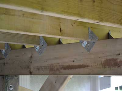Using joist to beam connectors for a secure connection